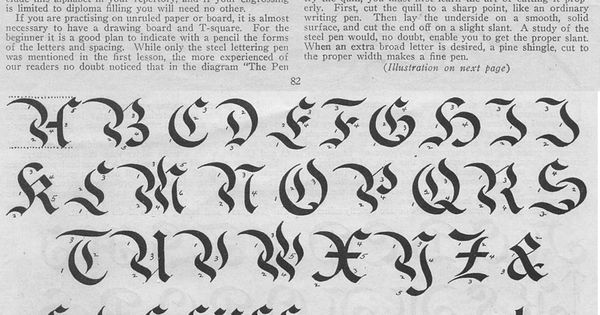 Lesson in german calligraphy pinterest