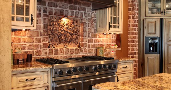 Brick Wall Ideas Ideas Rustic Kitchen Cabinet Set Design