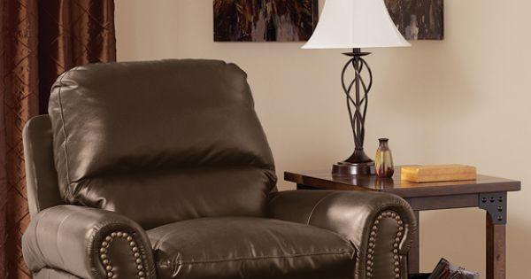 Nail Head Trimmed Bonded Leather Rocker Recliner Kimbrell 39 S Furniture Pinterest Nail Head