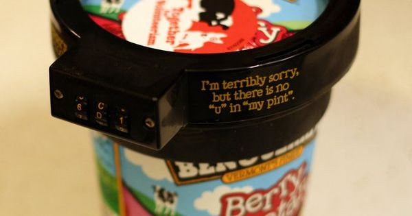 Ben & Jerry's Ice Cream Lock- too funny