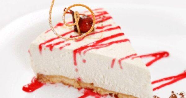 تشيز كيك بارد مع صلصة الفراولة Recipe Cake Food Desserts