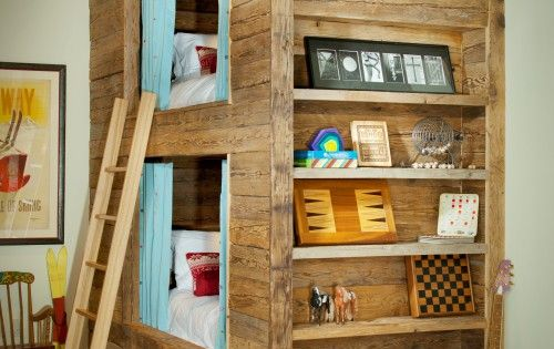 Awesome little hideaway bunkbeds for a kids room!