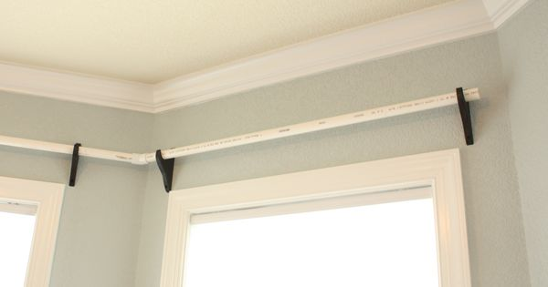 Home Depot Brackets And Pvc Pipe Can Be Spray Painted For Super Cheap Curtain Rods Crafty