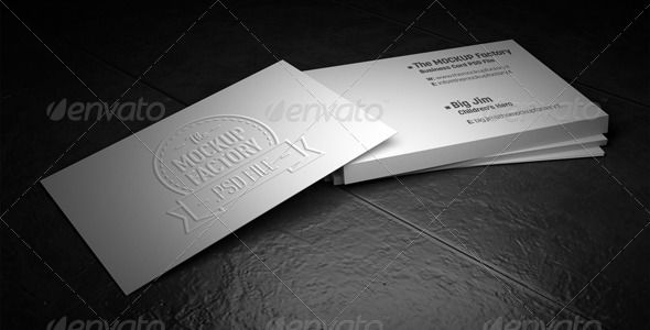 Photorealistic Embossed Business Card Mockup With Images
