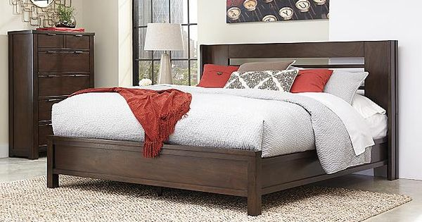 Medium Brown Molanna Queen Panel Bed View 1 Ideas For