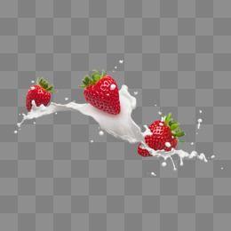 Strawberry Milk Strawberry Milk Fruity Milk Fruit Liquid Splash Fresh Strawberries Milkshake Delicious Fru Pop Art Food Poster Background Design Milk Packaging