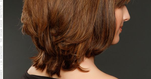 Lightly Layered Bob Shoulder Length Cut Tapered Back