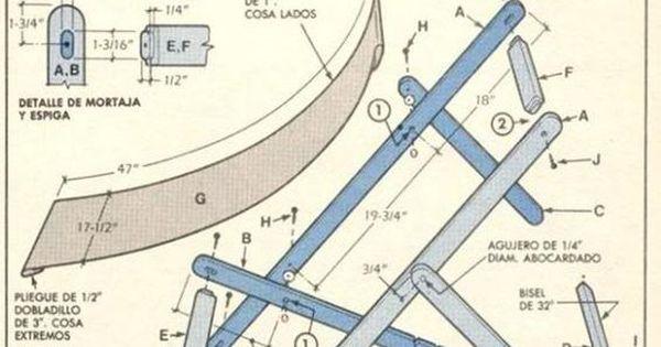 Planos para hacer reposeras de madera con lona pesquisa for Sillas para planos