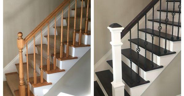 Renovating Stairs Wrought Iron Wood Floor Finishing