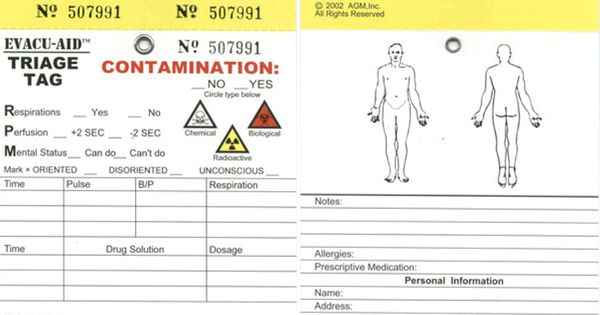 triage tag u0026 39 s will be helpful in any emergency