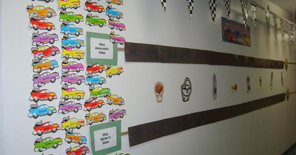 Hallway decorations race tracks and classroom ideas on pinterest
