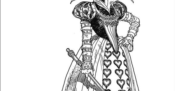 Tim Burton39s Alice in Wonderland coloring page We39re