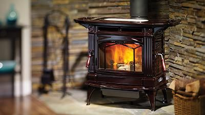 H300 Wood Stove With Side Shelves In Timberline Brown Finish Wood Stove Corner Wood Stove Stove