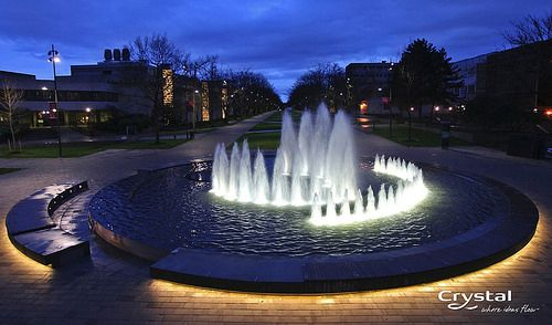 Ubc Vancouver British Columbia Water Feature Lighting Water Features Modern Water Feature