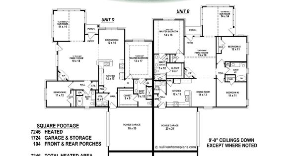 Quadplex creative things pinterest duplex plans for Quadplex plans