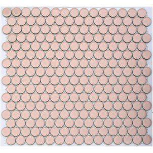 Flirt Pink Lyric Glazed Porcelain Penny Tile At Mosaictilesupplies Com 11 25 Penny Tile Penny Tiles Bathroom
