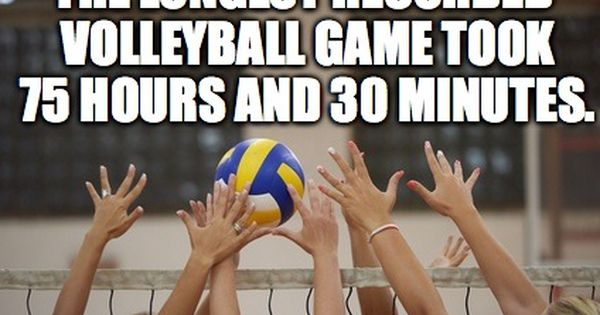Funfactfriday Peakperformance Fun Fact Friday Fun Facts Volleyball Games