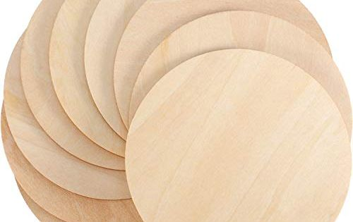 Boao Unfinished Wood Circle Round Wood Pieces Blank Round Ornaments Wooden Cutouts For Diy Craft Project Decoration Wood Circles Wooden Cutouts Coaster Crafts
