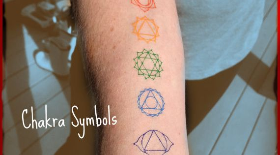 Chakra temporary tattoos matching reiki colors root for Solar plexus tattoo