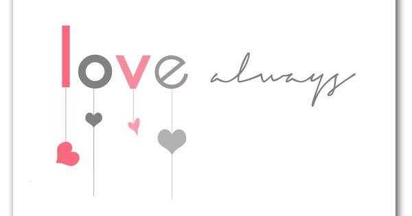 free valentine print // love always at Candy
