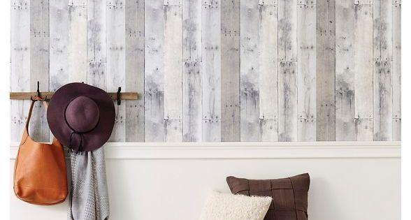 Reclaimed Wood Peel Stick Wallpaper Gray Threshold In 2020 Peel And Stick Wallpaper Reclaimed Wood Accent Wall Paint