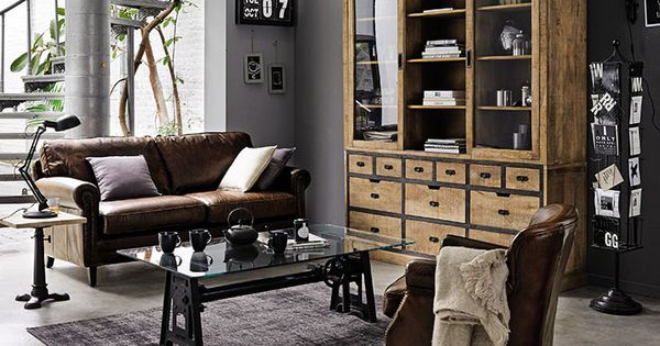 le style la fran aise l honneur chez maisons du monde salon industriel int rieurs. Black Bedroom Furniture Sets. Home Design Ideas