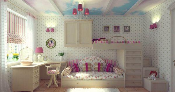 Floral theme girls badroom recamar s ni as pinterest recamaras ni as decoraci n hogar y - Pinterest decoracion hogar ...