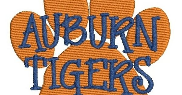 Shoply Com Auburn Tigers Paw Print Machine Embroidery