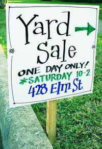 Turning Trash To Cash Yard Sale Basics Yard Sale Yard Sale