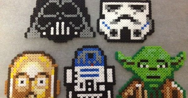 Star Wars perler coasters -Set of 5- - by Rainbow.andthe.Sun on madeit