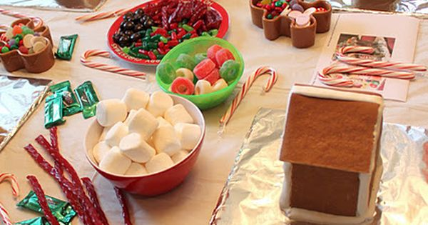 Gingerbread House Party Ideas ❤❦♪♫ Holiday Mixer for Parents and Kids to
