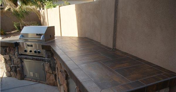 Tiled Bbq Outdoor Kitchen Alexon Design Group Gilbert Az Outdoor Kitchen Countertops Outdoor Countertop Outdoor Kitchen