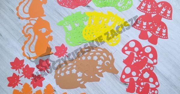 Dekoracje Jesienne Witraze Na Okna W Przedszkolu Szkole Crafts Kirigami Kids Rugs