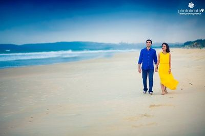 Outdoor Pre Wedding Photo Shoot By The Beach Dressed In Smart