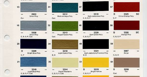 Gm Auto Color Chips Color Chips Amp Paint Codes Gm Auto Paint Colors Codes Pinterest