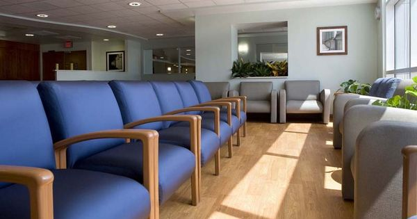 Blue Fabric Medical Waiting Room Chairs