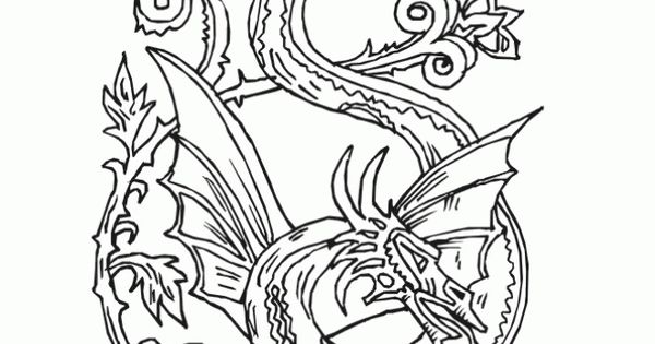 Beautiful Dragon Doodle Art Abstract