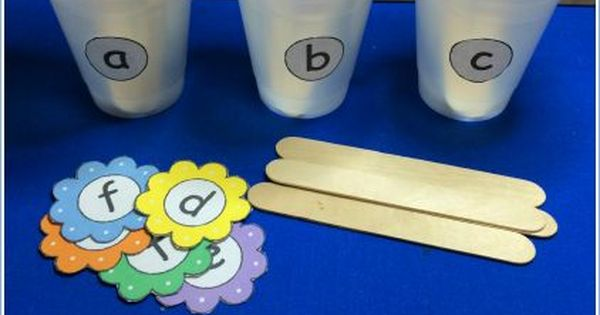 letters of support this week s free printable is flower letter sorting cups 23382
