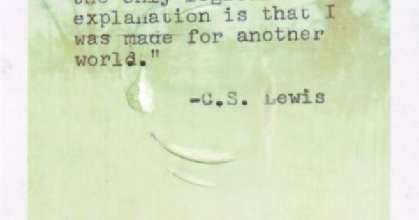#cslewis quote inspired