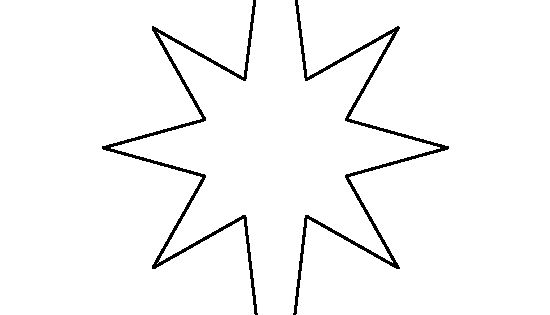 Elongated Star Pattern. Use The Printable Outline For