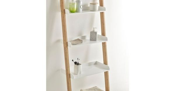 Etag re salle de bains chelle bambou lindus la redoute interieurs prix avis notation for Echelle bambou salle de bain alinea