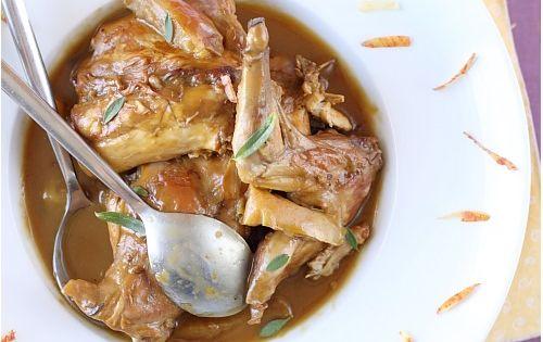 Lapin mijot au cidre pain d pices et pommes recette - Cuisiner le lapin au four ...