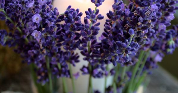 DIY Centerpiece Ideas for Spring That Will Brighten Your Home>> Lavender candles,