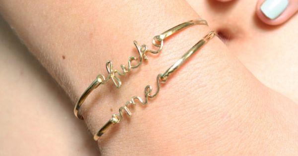 fuck bracelets jelly me