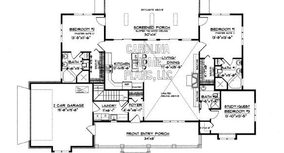 Small country ranch style house plan sg 1681 sq ft for Small acadian house plans