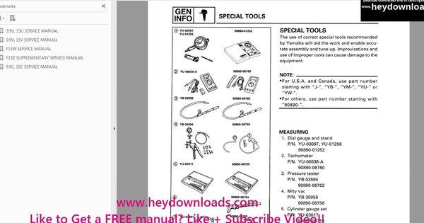 Yamaha Outboard 15hp 15 Hp 1996 2006 Service Manual Pdf Download Manual Outboard Repair Manuals
