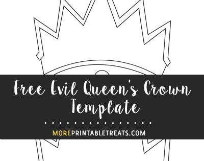 Free Evil Queen 39 s Crown Template