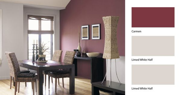Define Your Dining Room Area With A Little Help From Dulux