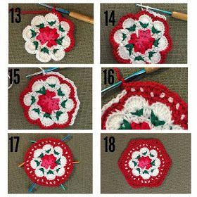 مفارش كروشية صغيرة كوسترات كروشية مفارش مدورة للمطبخ طريقة مفرش صغير ابداع الكروشية Crochet Hexagon Cath Kidston Crochet Crochet Coasters