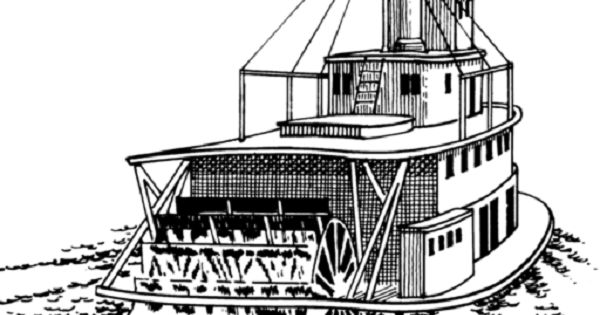 river boat coloring pages